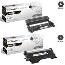 Compatible Brother DR420-TN420 / TN450 Black Drum and Toner Cartridges