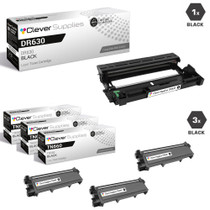 Compatible Brother DR630-TN660 Black Drum and 3 Toner Cartridge Set