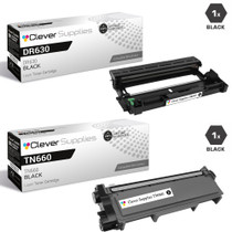 Compatible Brother DR630-TN660 Black Drum and Toner Cartridge Set