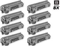 CS Compatible Replacement for HP CE285A Toner Cartridge Black 8 Pack/ HP 85A