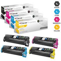CS Compatible Replacement for HP 122A Premium Quality Toner Cartridges 4 Color Set (Q3960A/ Q3961A/ Q3962A/ Q3963A)