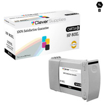 CS Compatible Replacement for HP C4871A (HP-80XL) Ink Cartridge Remanufactured High Yield Black
