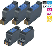 CS Compatible Replacement for HP C8790FN (HP-23 & 45) Ink Cartridge Remanufactured 3 Black and 2 Tri Color