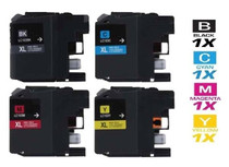 Compatible Brother LC103 InkJet Cartridge High Yield 4 Color Set (LC103BK/ LC103C/ LC103M/ LC103Y)