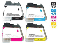 Compatible Brother LC61 InkJet Cartridge 4 Color Set (LC61BK/ LC61C/ LC61M/ LC61Y)