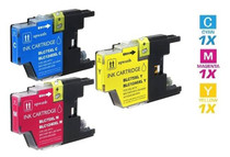 Compatible Brother LC75 InkJet Cartridge 3 Color Set (LC75C/ LC75M/ LC75Y)