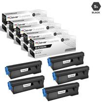 Compatible Okidata B420DN Laser Toner Cartridges Black 5 Pack