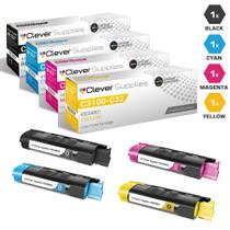 Compatible Okidata C3100 Laser Toner Cartridges 4 Color Set