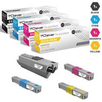 Compatible Okidata C331DN Premium Quality Laser Toner Cartridges 4 Color Set