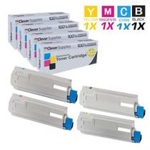 Compatible Okidata C6050DN Premium Quality Laser Toner Cartridges 4 Color Set