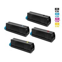 Compatible Okidata C610DN Laser Toner Cartridges 4 Color Set