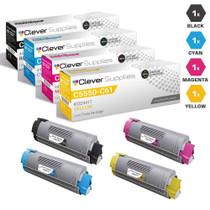 Compatible Okidata C6150DN Premium Quality Laser Toner Cartridges 4 Color Set