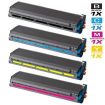 Compatible Okidata C9300DXN Laser Toner Cartridges 4 Color Set