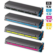 Compatible Okidata C9300N Laser Toner Cartridges 4 Color Set