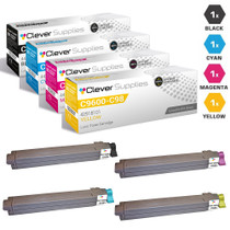Compatible Okidata C9800HDN Premium Quality Laser Toner Cartridges 4 Color Set