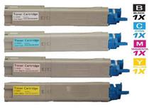 Compatible Okidata C3450N Laser Toner Cartridges 4 Color Set