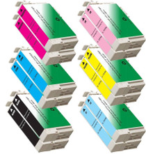 Compatible T078 EPSON 12 PACK INK CARTRIDGES: 2 BLACK & 2 OF EACH CYAN/MAGENTA/YELLOW/LIGHT CYAN/LIGHT MAGENTA