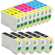 Compatible EPSON T125 SET OF 14 INK CARTRIDGES: 5 BLACK & 3 CYAN/ MAGENTA/ YELLOW