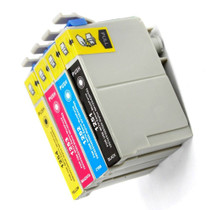 Compatible EPSON T125 SET OF 4 INK CARTRIDGES: 1 BLACK & 1 CYAN/ MAGENTA/ YELLOW