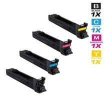 Compatible Konica Minolta TN-318 Premium Quality Laser Toner Cartridges 4 Color Set (A0DK133/ A0DK433/ A0DK333/ A0DK233)