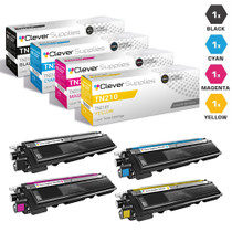 Compatible Brother TN210 Toner Cartridge 4 Color Set-(TN210BK/ TN210C/ TN210M/ TN210Y)