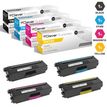 Compatible Brother TN336 Laser Toner Cartridge High Yield 4 Color Set (TN336BK/ TN336C/ TN336M/ TN336Y)