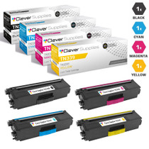 Compatible Brother TN339 Premium Quality Laser Toner Cartridge High Yield 4 Color Set (TN339BK/ TN339C/ TN339M/ TN339Y)