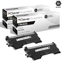 Compatible Brother TN420 Toner Cartridge 2 Black Set