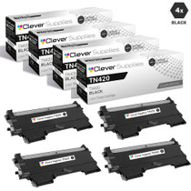 Compatible Brother TN420 Toner Cartridge 4 Black Set