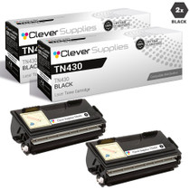 Compatible Premium Brother TN430 Laser Toner Cartridge Black 2 Pack