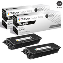 Compatible Premium Brother TN460 Laser Toner Cartridge High Yield Black 2 Pack