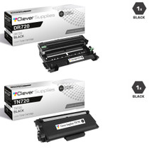 Compatible Brother TN720-DR720 Laser Toner and Drum Unit Cartridge