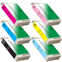 Compatible T078 EPSON 6 PACK INK CARTRIDGES: 1 BLACK & 1 OF EACH CYAN/MAGENTA/YELLOW/LIGHT CYAN/LIGHT MAGENTA