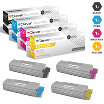 Compatible Okidata Type C15 Laser Toner Cartridges 4 Color Set (44315304/ 44315303/ 44315302/ 44315301)