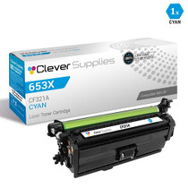 CS Compatible Replacement for HP 653A Toner Cartridges Cyan (CF321A)