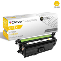 CS Compatible Replacement for HP 653A Toner Cartridges Yellow (CF322A)