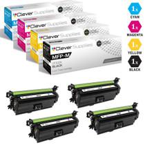 CS Compatible Replacement for HP MFP M675 Toner Cartridges 4 Color Set (CF320X, CF321A, CF323A, CF322A)