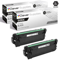 CS Compatible Replacement for HP 508X Toner Cartridges 2 Black Set (CF360X)