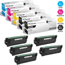 CS Compatible Replacement for HP 508X Toner Cartridges 5 Color Set (CF360X, CF361X, CF363X, CF362X)