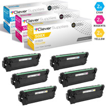 CS Compatible Replacement for HP 508X Toner Cartridges 6 Color Set (CF361X, CF363X, CF362X)