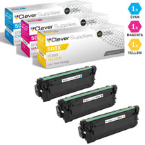 CS Compatible Replacement for HP 508X Toner Cartridges 3 Color Set (CF361X, CF363X, CF362X)