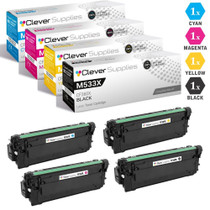 CS Compatible Replacement for HP M533X Toner Cartridges 4 Color Set (CF360X, CF361X, CF363X, CF362X)