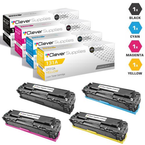CS Compatible Replacement for HP 131A Toner Cartridge 4 Color Set (CF210A/ CF211A/ CF212A/ CF213A)