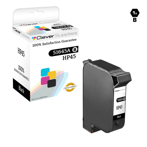 CS Compatible Replacement for HP 51645A (HP-45) Ink Cartridge Remanufactured Black