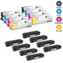 CS Compatible Replacement for HP 201X Laser Toner Cartridges High Yield 2 X BCMY - 8 Color Set (CF400X/ CF401X/ CF403X/ CF402X)