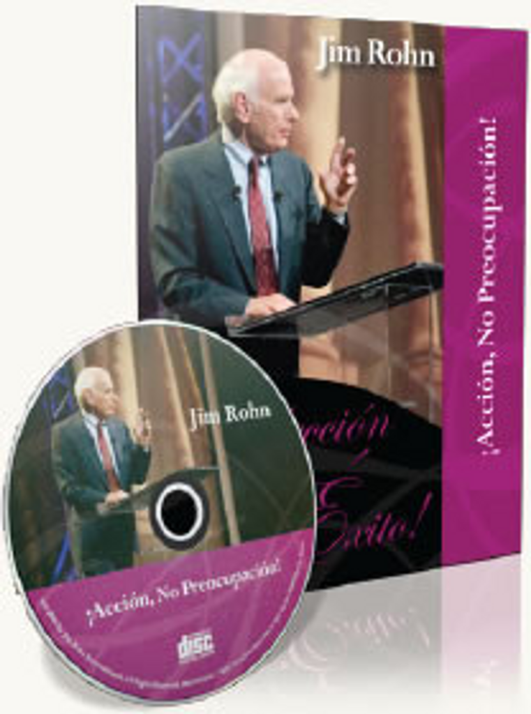 Accion, No Preocupacion Spanish CD by Jim Rohn