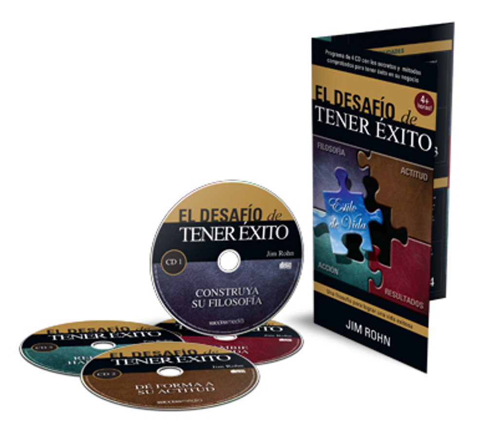 Challenge to Succeed Spanish Edition 4-CD Set by Jim Rohn