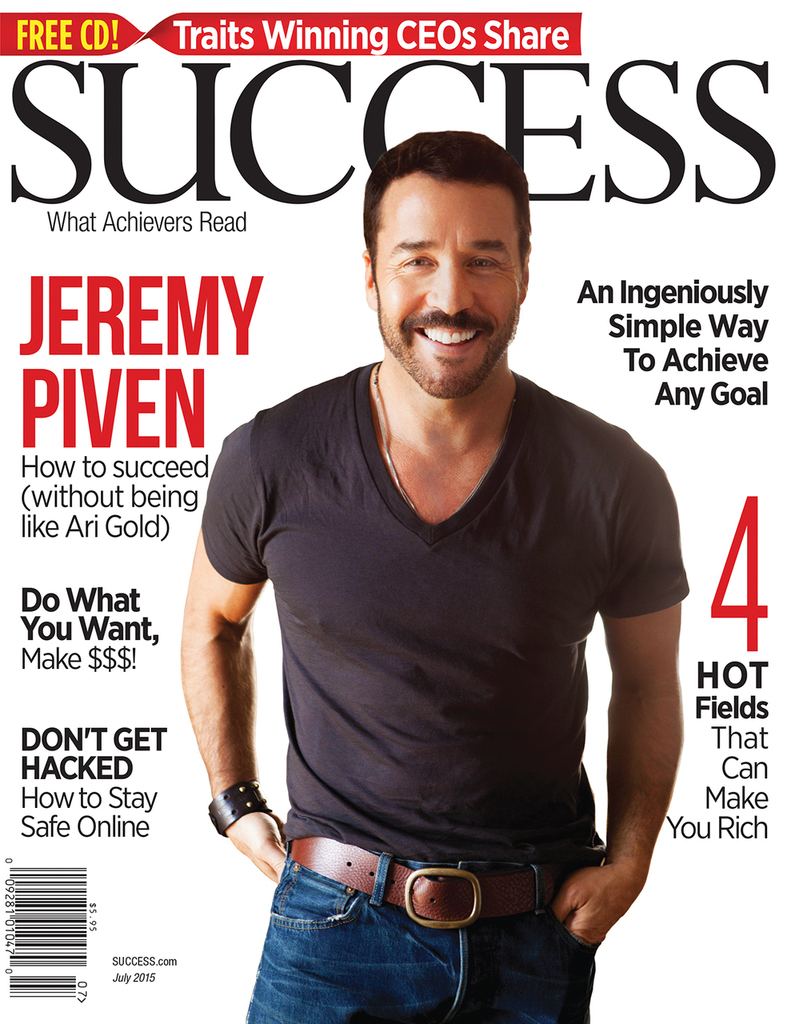 SUCCESS Magazine July 2015  - Jeremy Piven