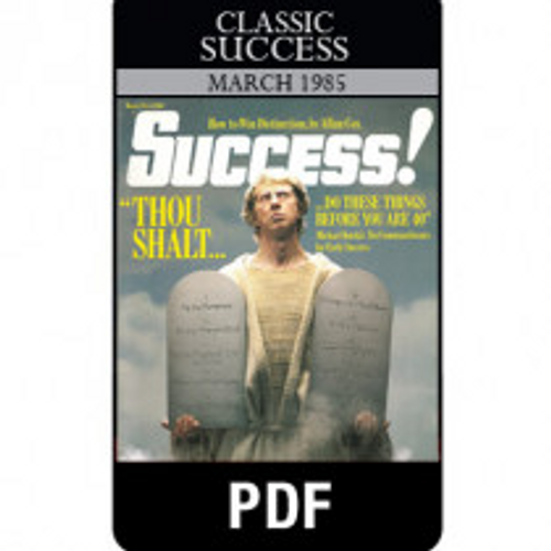 March 1985 Classic SUCCESS magazine digital download (PDF)