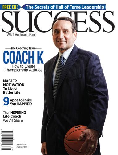 SUCCESS Magazine September 2015 - Mike Krzyzewski